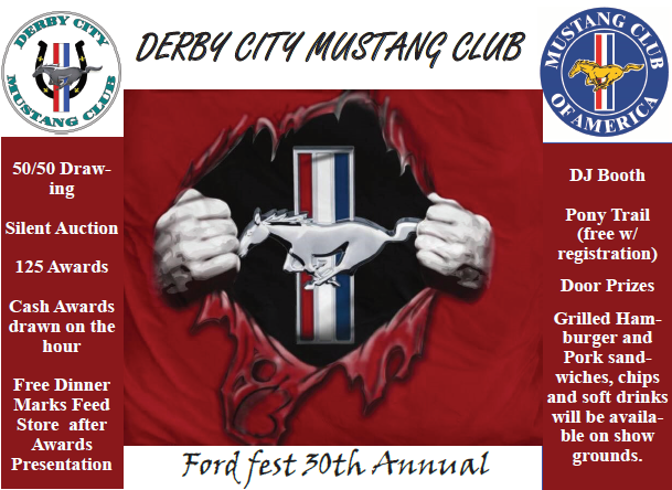 Derby City Mustang Club Presents the 30th Annual Ford Fest