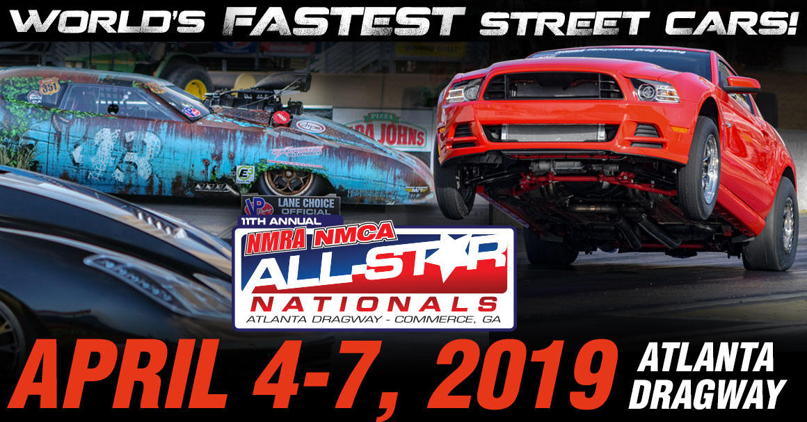 World's collide as the NMRA and NMCA combine to create the NMRA/NMCA All-Star Nationals at Atlanta Dragway and it is the only time this motorsport spectacular happens in the Southeast.