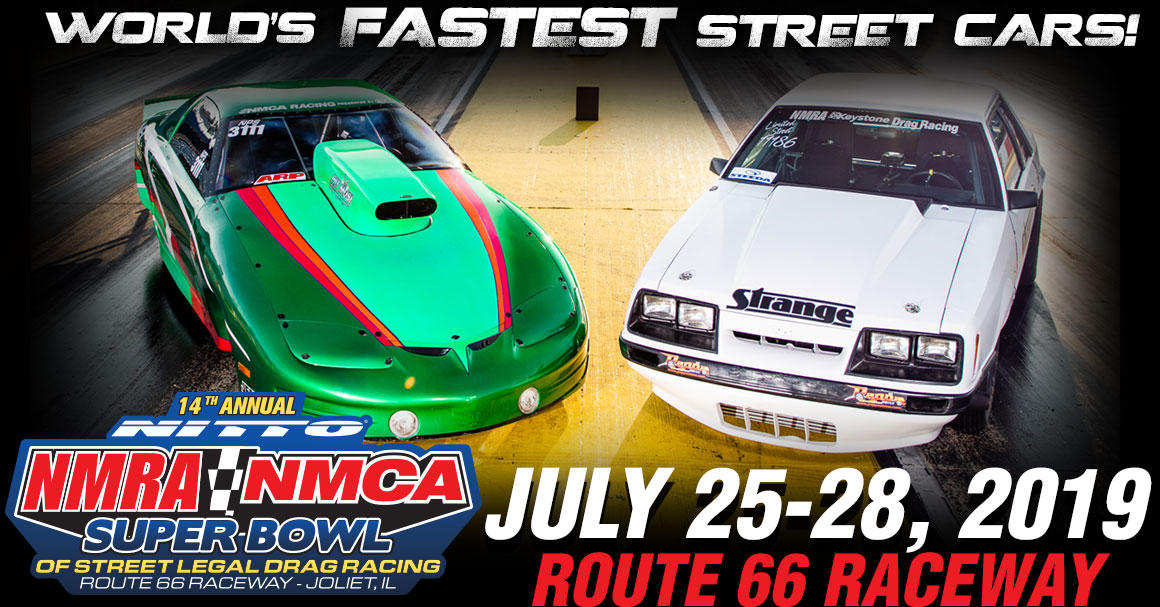 The biggest street-legal drag race of the year comes to Route 66 Raceway with nearly a dozen heads-up classes, Index categories, street car madness for Chevy, Dodge, and True Street enthusiasts, Car Show, and Manufacturer's Midway.