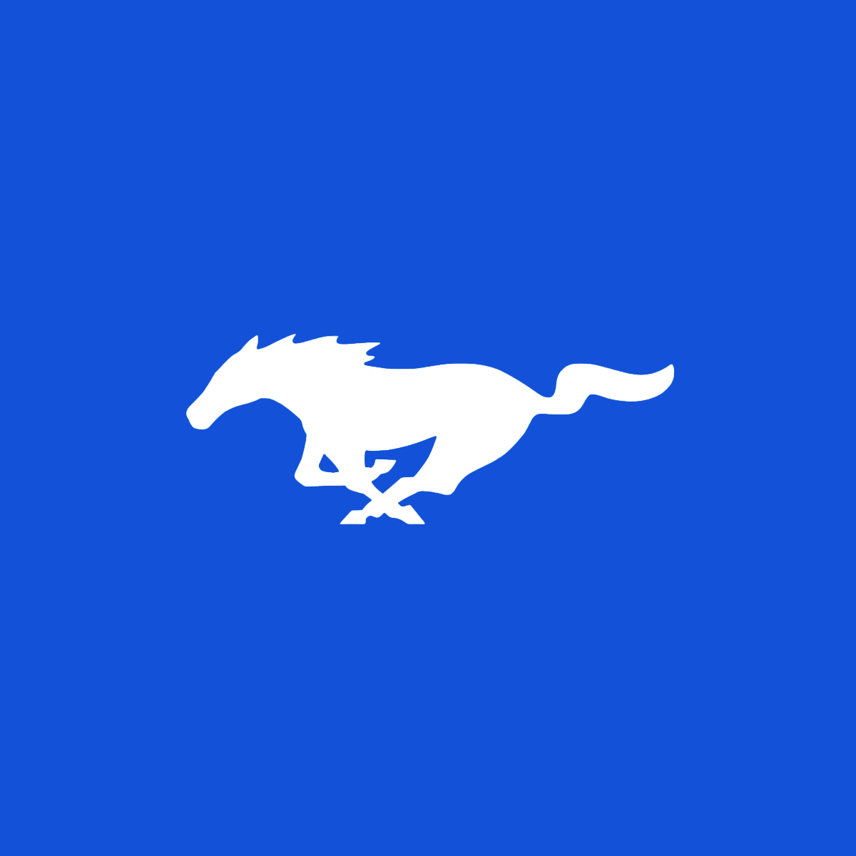 Relámpago Azul Mustang Club Logo