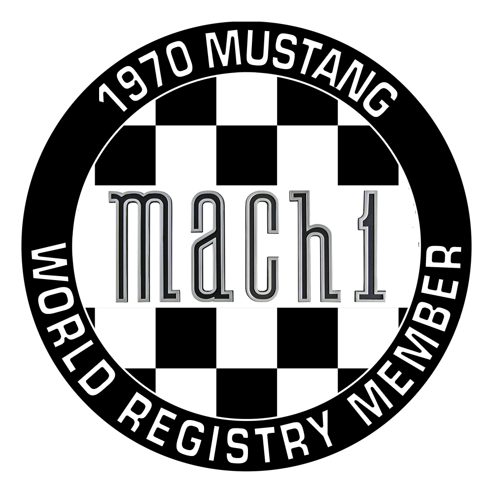 1970 Mustang Mach1 World Registry Logo