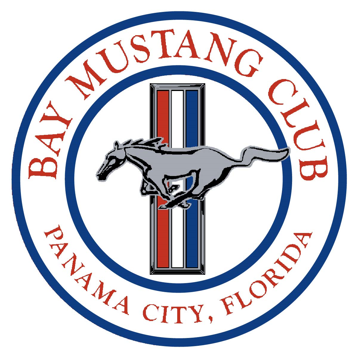 Bay Mustang Club of Panama City Club Logo