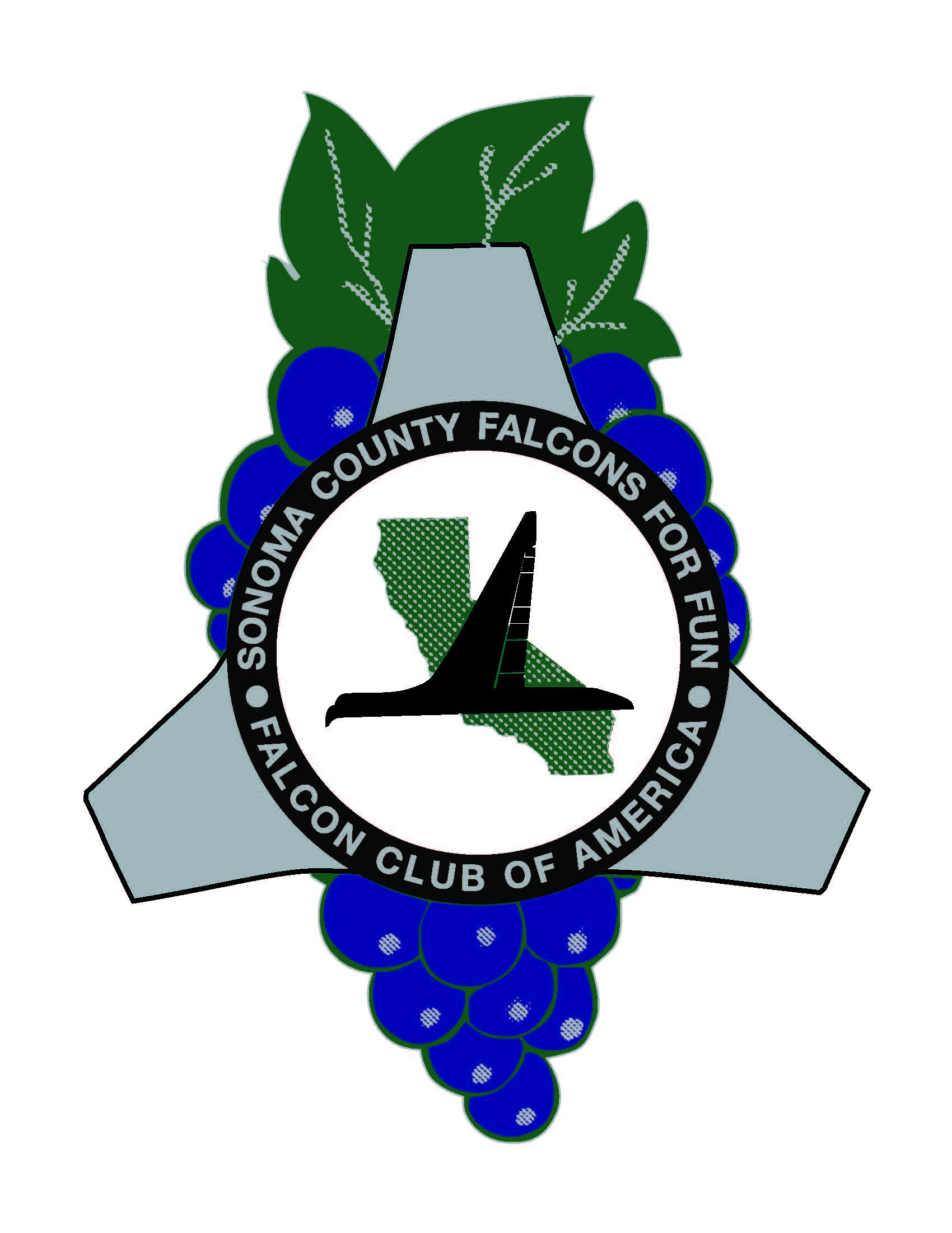 Sonoma County Falcons for Fun! CLub Logo