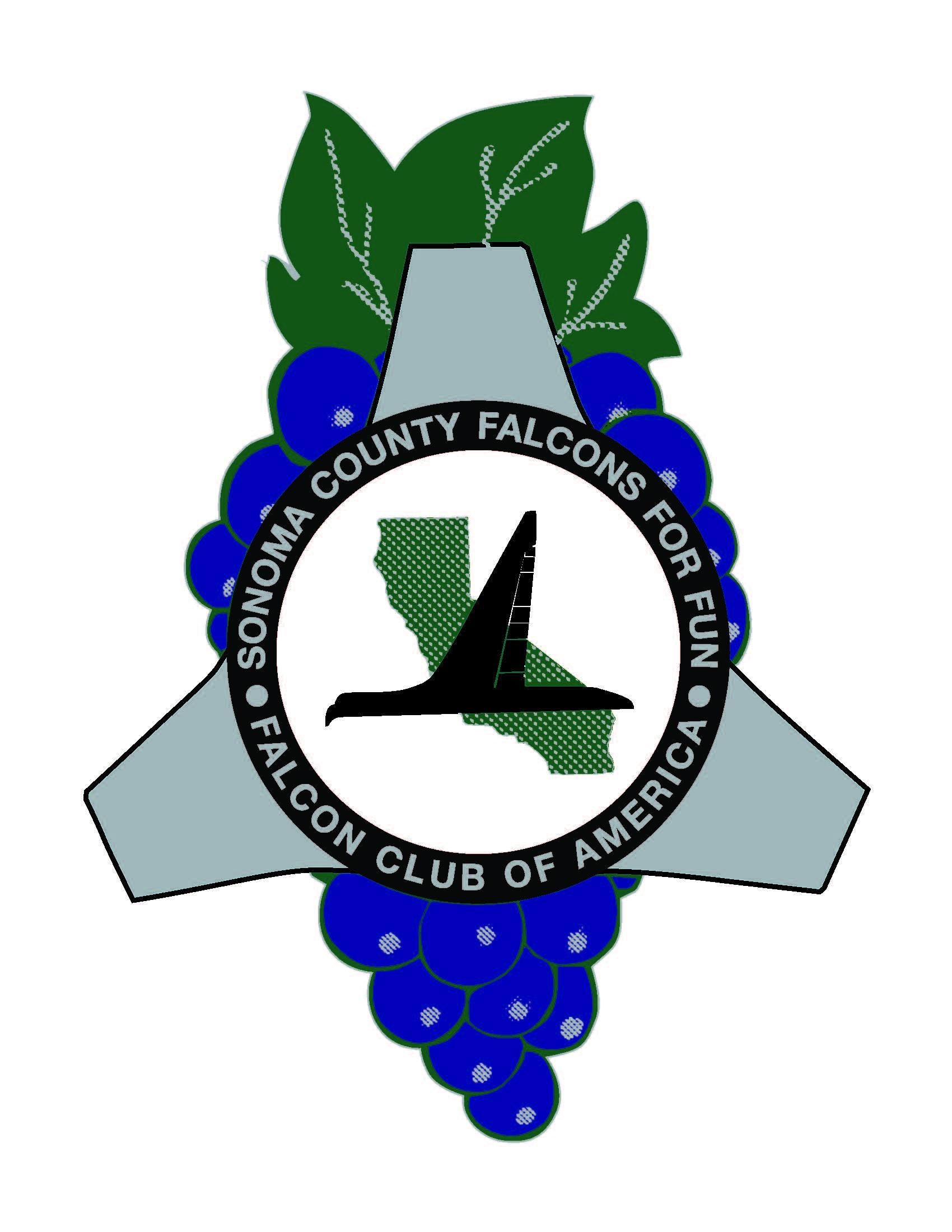 Sonoma County Falcons for Fun! CLub Logo