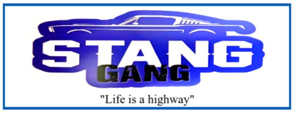 The Stange Gang logo, Blue and White