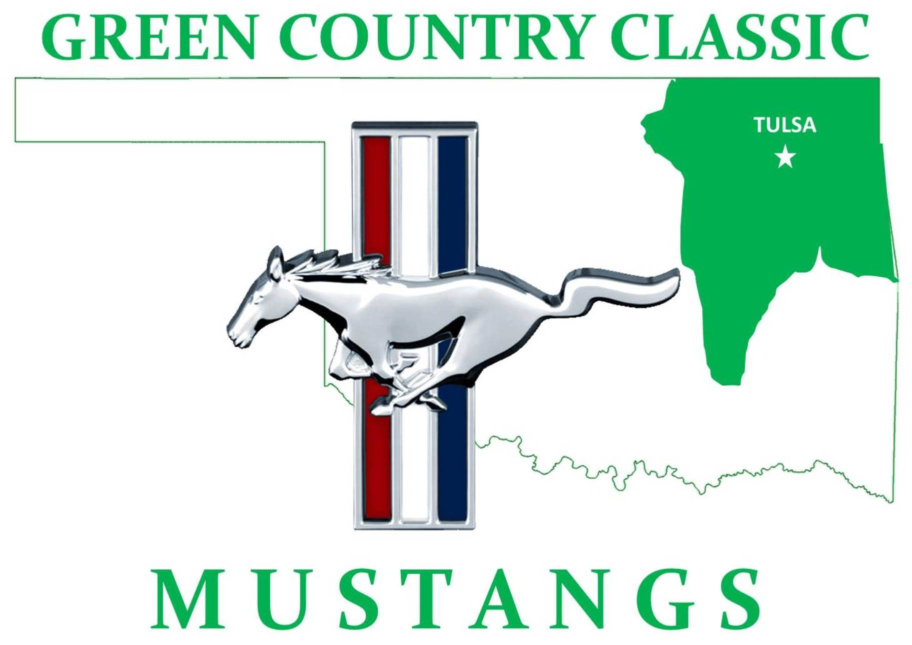 Green Country Classic Mustangs logo